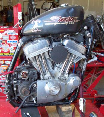 Complete Scratch Chopper Motorcycle Builders Kit - Contains