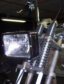 Harley Davidson Old School Chopper Headlights And