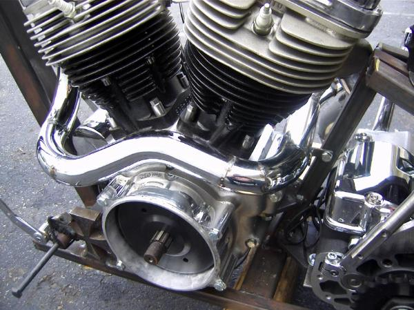 Custom Exhaust Fabrication Services for Old School Harley