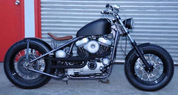 Evo Sportster Rigid Frame Chopper Bobber Hardtail Black Wheels Tires Oil Tank Solo Seat Springs Phillipines
