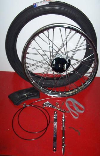 Chopper/Bobber Mini-Brake Drum Brake Wheels, Spool Hub
