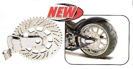 Edart DNA Paughco Chrome Front Brake Caliper Bracket Kit Harley Front Springer