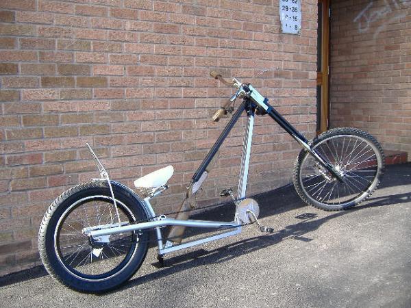 Double Barrel Shotgun Backbone Frame Bicycle by Kirk & Joe Ogle