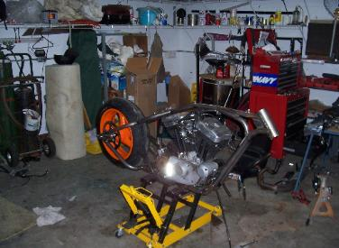 Ken Knight's Buell XB build using Bitter End Choppers conversion kit